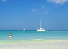 Het strand van Negrils Stock Fotografie
