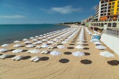 Het strand van Nessebar, Bulgarije Stock Foto