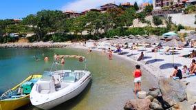 Het strand van Nessebarbulgarije in de oude stad Royalty-vrije Stock Afbeelding