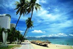 Het strand van Nhatrang, Khanh Hoa-provincie, Vietnam Royalty-vrije Stock Fotografie