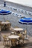 Het strand van Nice Stock Fotografie