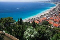 Het strand van Nice Stock Foto's