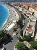 Het strand van Nice royalty-vrije stock fotografie
