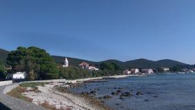 Het strand van Nice op het eiland stock fotografie