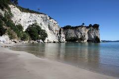 Het strand van Nieuw Zeeland Stock Foto's