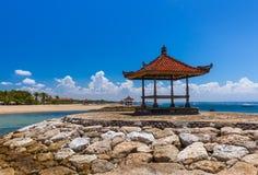 Het Strand van Nusadua in Bali Indonesië royalty-vrije stock foto's