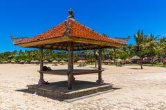 Het Strand van Nusadua in Bali Indonesië stock foto's