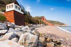 Het Strand van Oddicombe stock fotografie