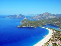 Het strand van Oludeniz Stock Foto
