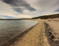 Het strand van Orkney Stock Afbeeldingen