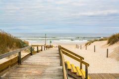 Het strand van Ossoda Baleia in Pombal, Portugal Royalty-vrije Stock Afbeeldingen