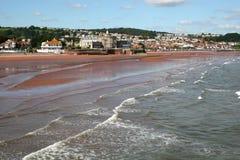 Het strand van Paignton stock fotografie