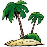 Het Strand van palmen stock illustratie