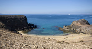Het strand van Papagayo Stock Foto