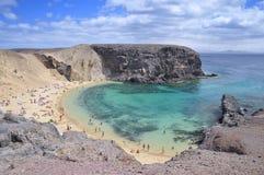 Het strand van Papagayo. Royalty-vrije Stock Foto's