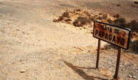 Het strand van Papagayo, Lanzarote Stock Afbeeldingen