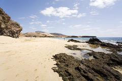 Het strand van Papagayo, Lanzarote Stock Fotografie