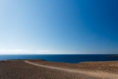 Het Strand van Papagayo van Playa, Playa Blanca, Lanzarote, Spanje Stock Afbeelding