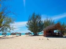 Het Strand van Paraiso van Playa in Largo Cayo, Cuba Stock Afbeeldingen