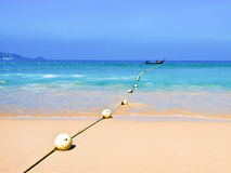 Het strand van Patong bij phuketeiland, Thailand Stock Foto