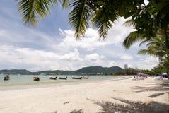 Het strand van Patong, Phuket Stock Foto