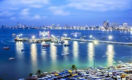 Het strand van Pattaya Stock Afbeeldingen