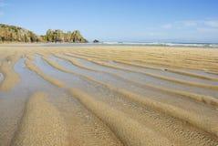 Het strand van Pedn vounder, Cornwall. royalty-vrije stock afbeelding