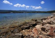 Het strand van Peebled Royalty-vrije Stock Foto