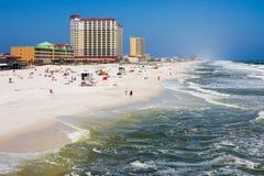 Het Strand van Pensacola in Florida Stock Afbeeldingen