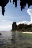 Het strand van Phra Nang van Tham, Thailand Stock Fotografie