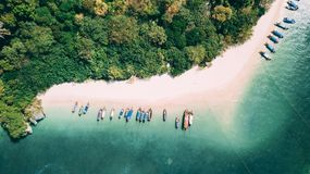 Het Strand van Phranang vanaf bovenkant Royalty-vrije Stock Fotografie
