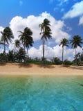 Het strand van Piñones Stock Foto's