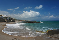 Het strand van Platanes, Kreta eiland Stock Foto
