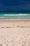 Het strand van Playa del carmen stock foto