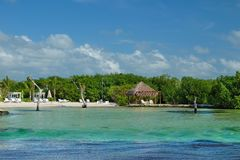 Het strand van het Playa del Carmen, Mexico royalty-vrije stock fotografie