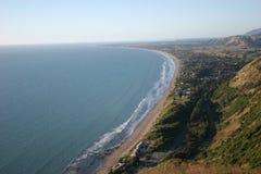 Het strand van Porirua Stock Afbeeldingen