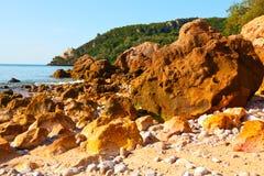 Het strand van Portinhoda Arrabida Royalty-vrije Stock Afbeelding