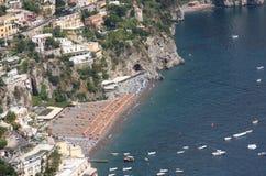 Het strand van Positano Royalty-vrije Stock Fotografie