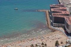 Het Strand van Postiguet in Alicante Stock Afbeeldingen