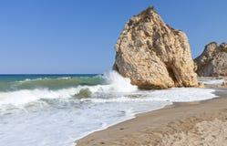 Het strand van Potistika in Pelion in Griekenland royalty-vrije stock foto