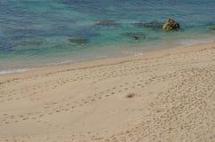 Het strand van Praiada Ilha do Pessegueiro dichtbij Porto Covo, Portugal Stock Afbeeldingen