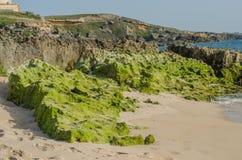 Het strand van Praiada Ilha do Pessegueiro dichtbij Porto Covo, Portugal Royalty-vrije Stock Afbeelding