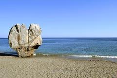 Het strand van Preveli in Kreta, Griekenland Royalty-vrije Stock Foto's