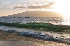 Het Strand van Puamana, Maui Stock Afbeelding