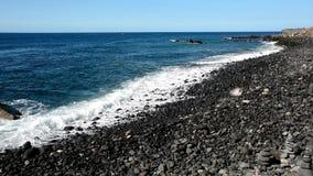Het strand van Puerto de la Cruz, Tenerife Stock Foto's