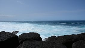 Het strand van Puerto de la Cruz, Tenerife Stock Afbeeldingen
