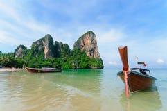 Het strand van Railay in Krabi Thailand Stock Foto's