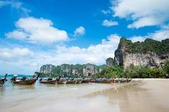 Het strand van Railay, krabi, Thailand Stock Foto