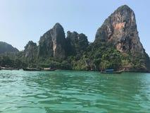Het strand van Railay in Krabi Thailand stock afbeelding
