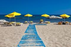 Het Strand van Rhodes Greece - Stegna- Royalty-vrije Stock Foto